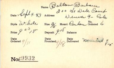 Index card for Barbara Bolton