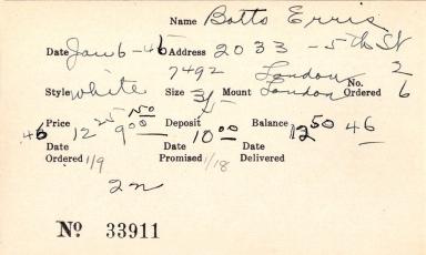 Index card for Erris Botts
