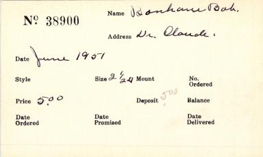 Index card for Bob Bonham