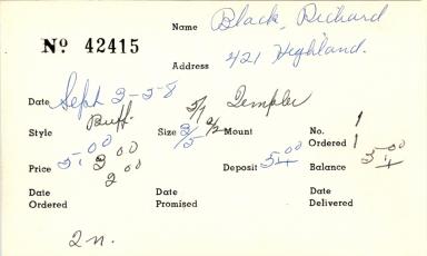 Index card for Richard Black
