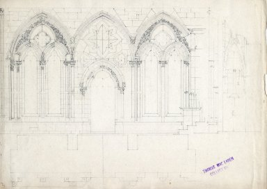 Diagram of entry to the Southwell Cathedral