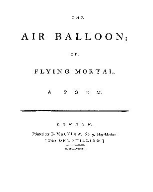 The Air balloon; or, flying mortal