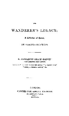 The wanderer's legacy