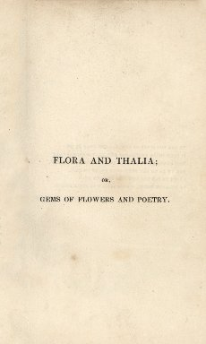 Flora and Thalia, or, Gems of flowers and poetry