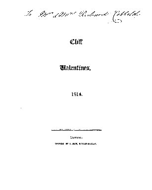 Cliff valentines, 1814