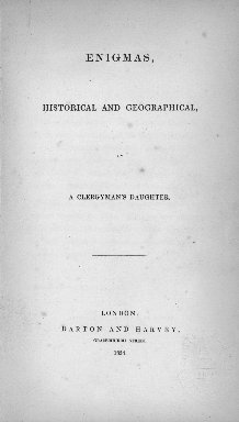 Enigmas, historical and geographical