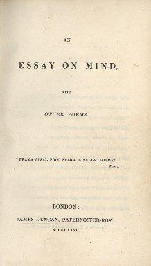 An essay on mind