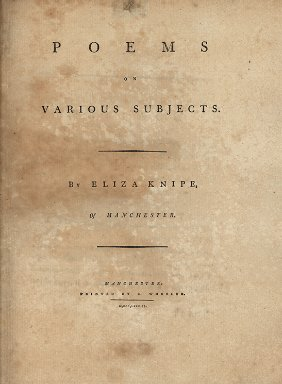 Poems on various subjectsby Eliza Knipe