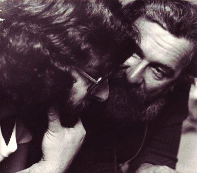 Rabbi Daniel Siegel and Rabbi Zalman Schachter, ca. 1980.