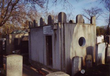 The mausoleum (ohel) of Rabbi David Moshe of Tchortkov (Ukraine), pt. 1 of 2.