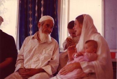 Sheikh Siddi Hassan al-Moumani of the Qadiri-Rifai Sufi lineage listening to his wife.