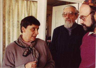 Blu Greenberg, Rabbi Zalman Schachter-Shalomi, and Dr. Marc Lieberman in October, 1990, pt. 9 of 15.