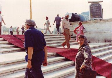 Rabbi Zalman Schachter-Shalomi and Blu Greenberg in Delhi, India, in October of 1990, pt. 11 of 15.