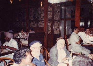 Rabbi Zalman Schachter-Shalomi and Rabbi Jonathan Omer-Man at dinner in India, pt. 13 of 15.