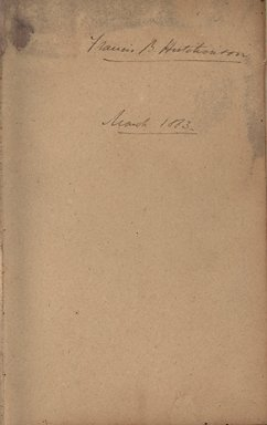 Francis B. Hutchinson Notebook of Diseases, Medical Conditions, and Remedies