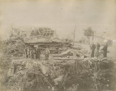 Aftermath of 28 Oct. 1891 earthquake