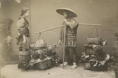 Japanese fruit and vegetable seller