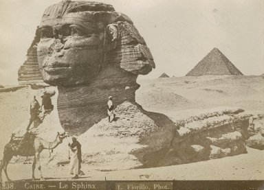 Great Sphinx of Giza in 3/4 profile