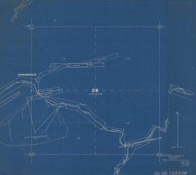 Map of Sec.28, T.2N.R.71W.