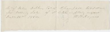 W. H. Haynes Receipt for Slave Auction (MS 405)
