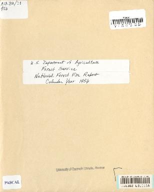 National Forest Fire Report Calendar Year 1956