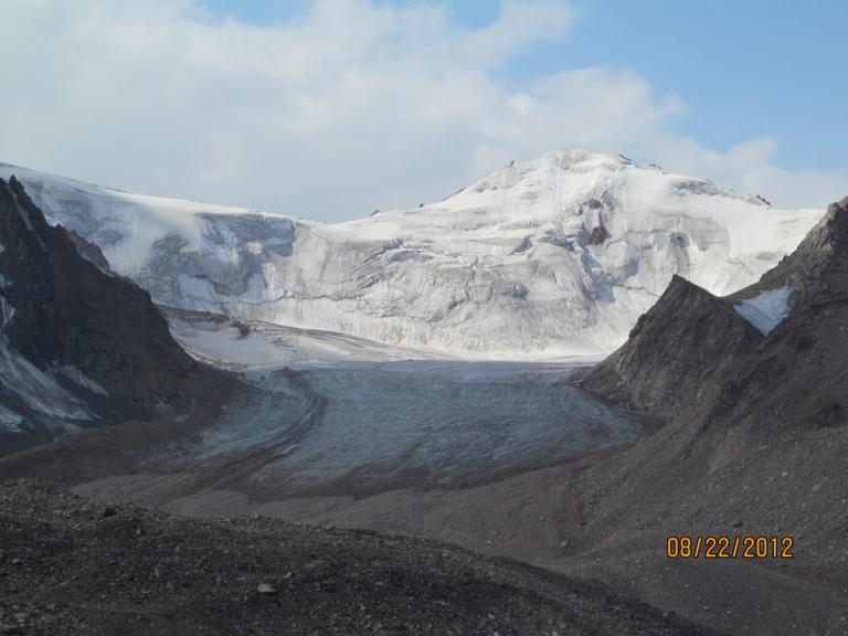 Tsentralniy Tuyuksuyskiy Glacier, Almaty, Kazakhstan