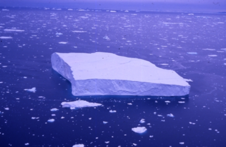 Unknown glacier and Iceberg 2575