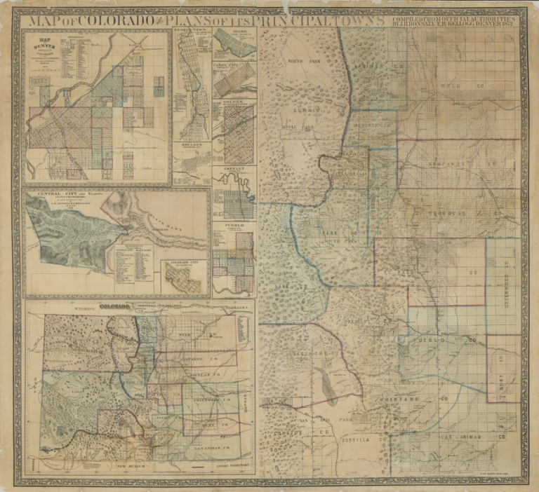 Map of Colorado with plans of its Principal towns, compiled from official authorities