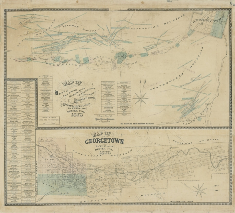Map of Brown, Sherman, Republican and Leavenworth Mountains, Colorado