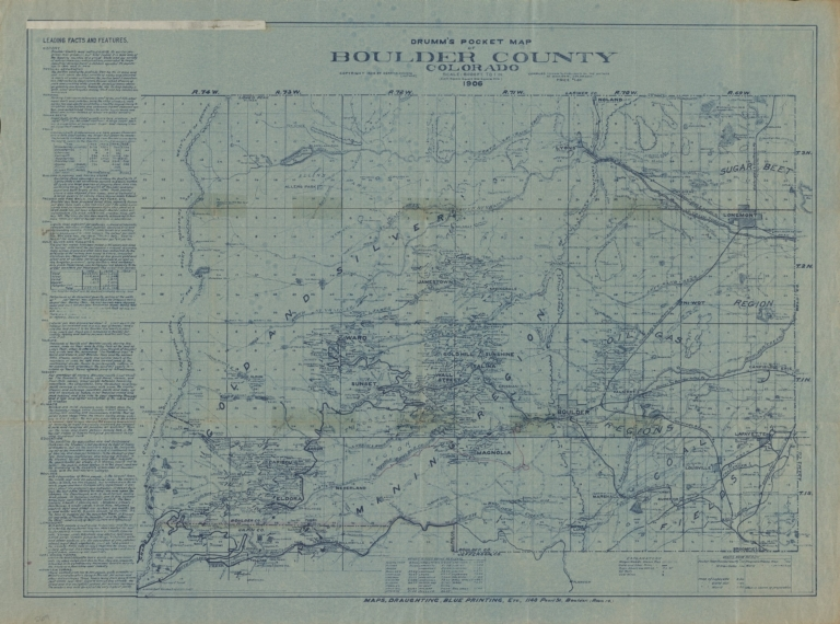 Drumm's pocket map of Boulder County Colorado