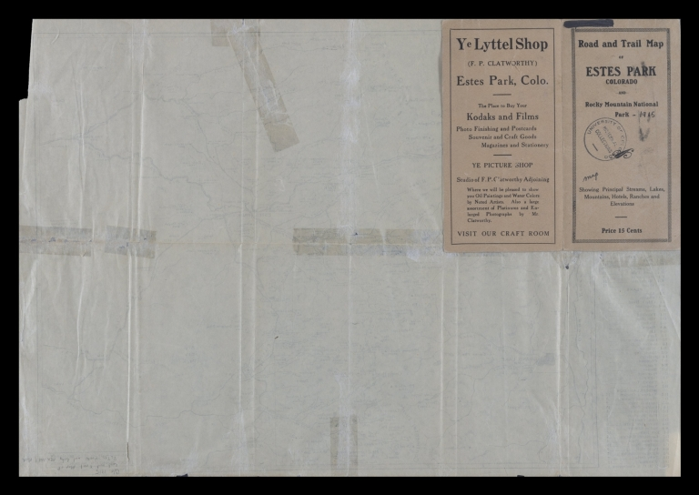Road and trail map of Estes Park and vicinity, Colorado