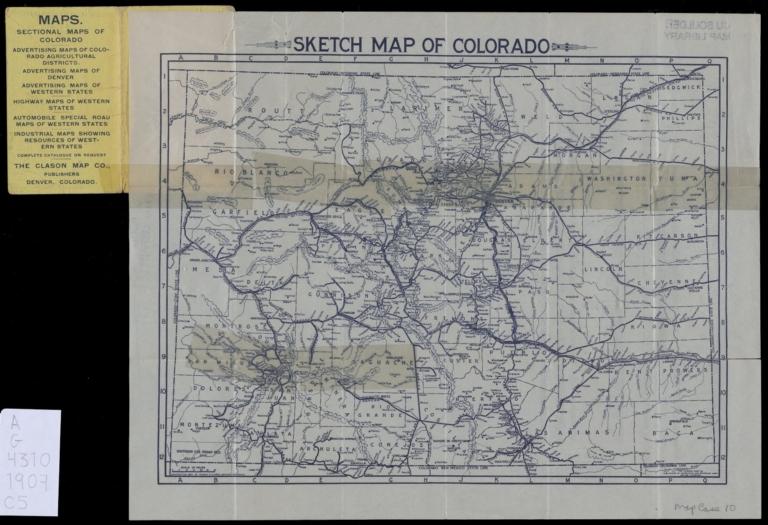 Sketch map of Colorado