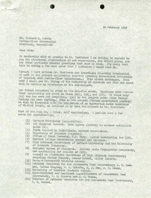 [Letter to Richard Perkin]