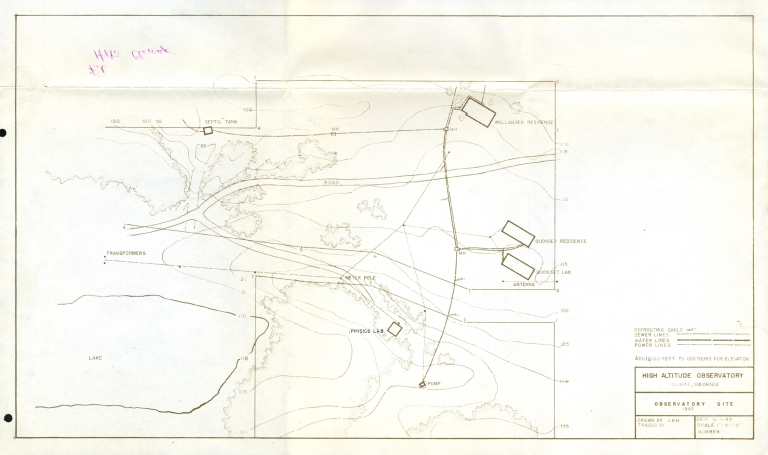 [Plan map of Climax Observatory Site]