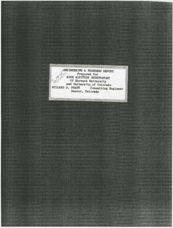 Annual Report to the Trustees: 1953-1954