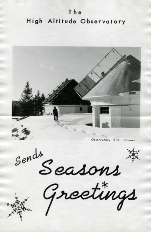 [High Altitude Observatory Christmas card]