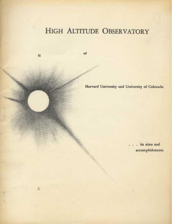 High Altitude Observatory: Its Aims and Accomplishments