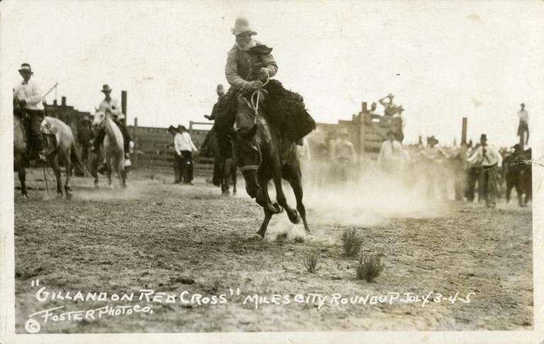 Gilland riding bronco