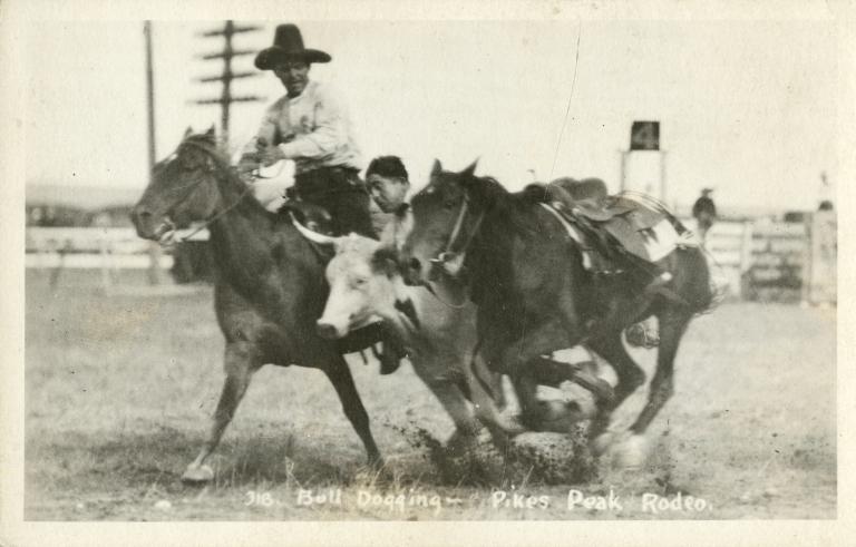 Norman Mason bulldogging