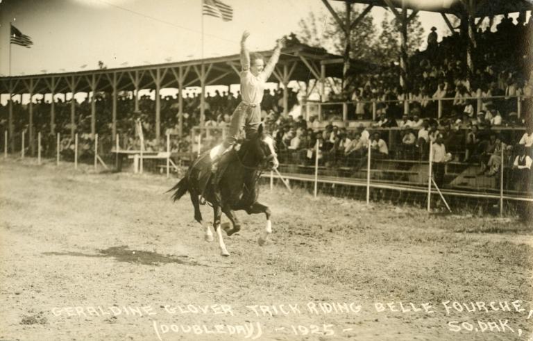Geraldine Glover trick riding