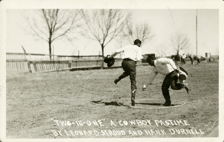 Leonard Stroud and Hank Durnell trick roping
