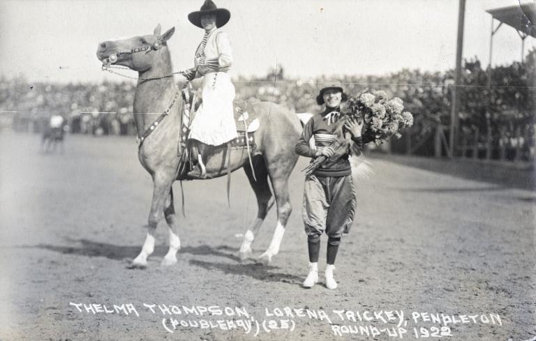 Thelma Thompson and Lorea Trickey at Pendleton Round-Up