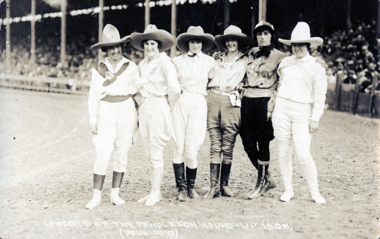 Group of women rodeo performers at the Pendleton Round-Up