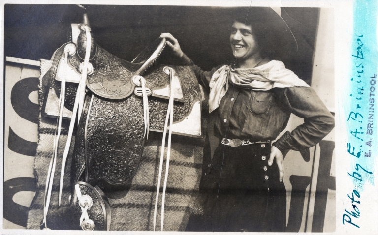 Rose Wenger with saddle