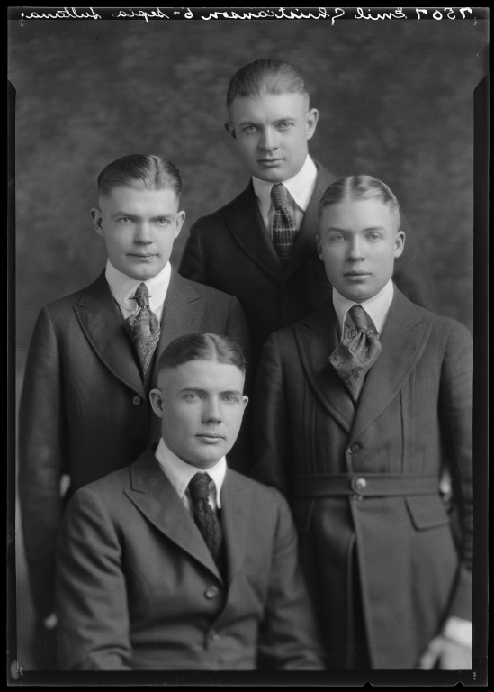 Portrait of Emil Christenson and family