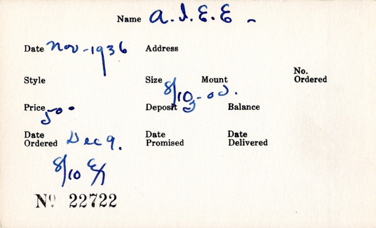 Index card for American Institute of Electrical Engineers