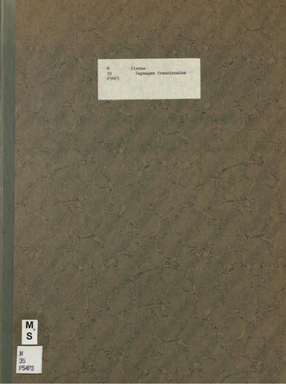 Paysages franciscains: trois pièces pour orchestre, op. 43. I. Le jardin de Sainte Claire (Couvent de Saint Damien)