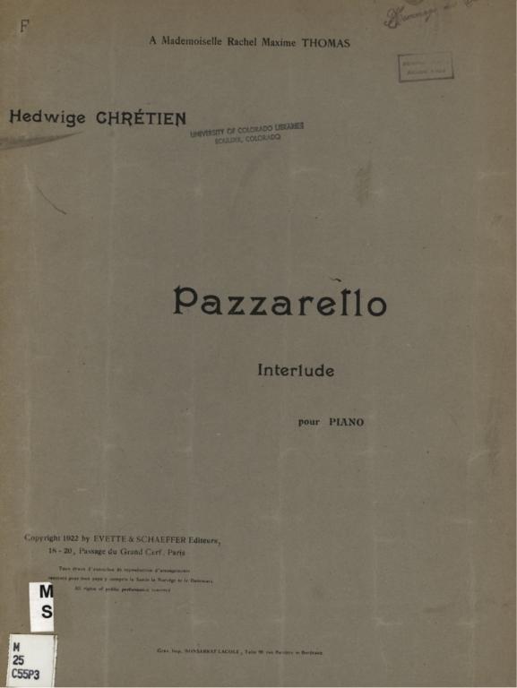 Pazzarello: interlude pour piano