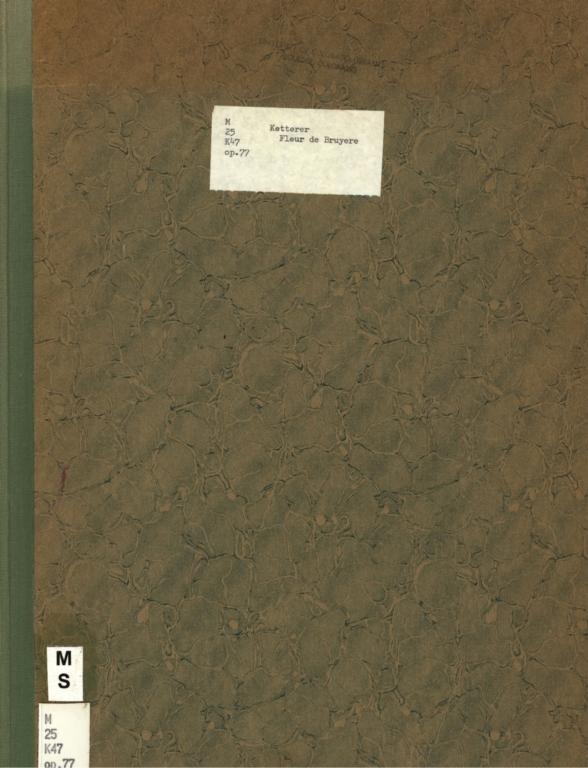 Fleur de bruyère: morceau de salon pour piano, op. 77