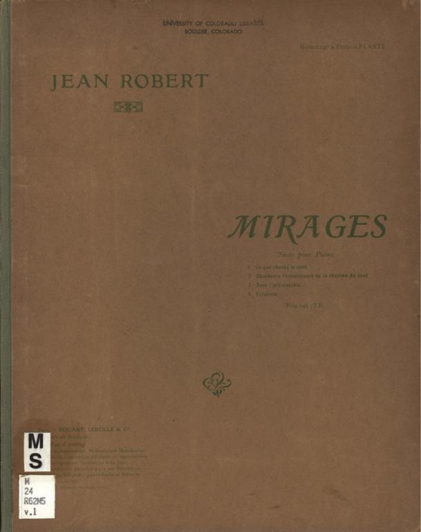 Mirages: suite pour piano